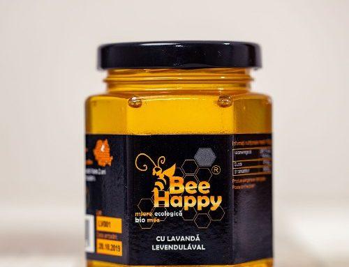 Miere de Salcam cu Lavanda, 250g, Bee Happy